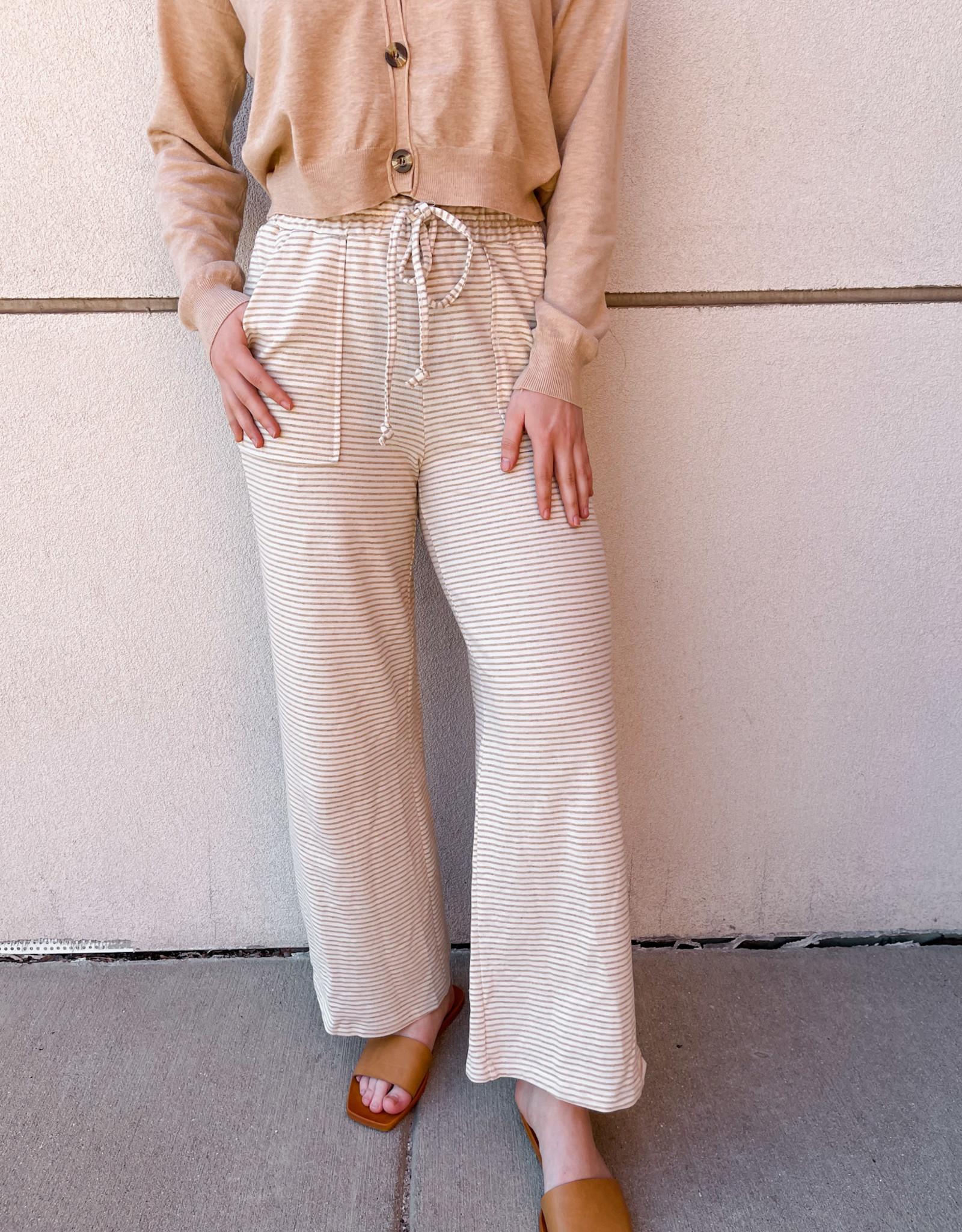 Missy Striped Wide Leg Pants