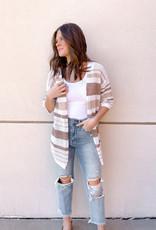 Malou Multi Striped Textured Cardigan