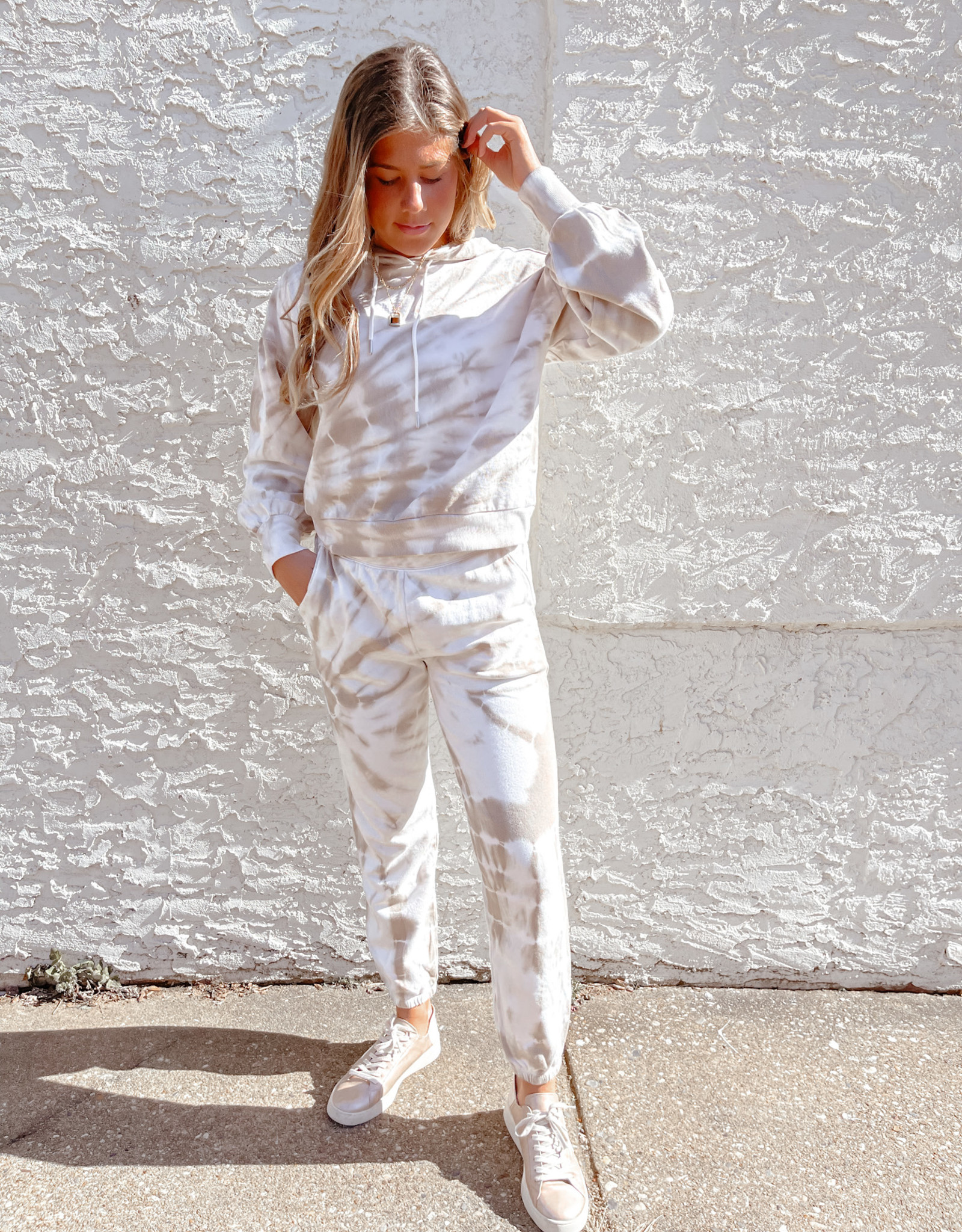 Z Supply Emery Spiral Tie-Dye Jogger Taupe