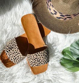 Earthdance Slip On Flat Sandals Cheetah