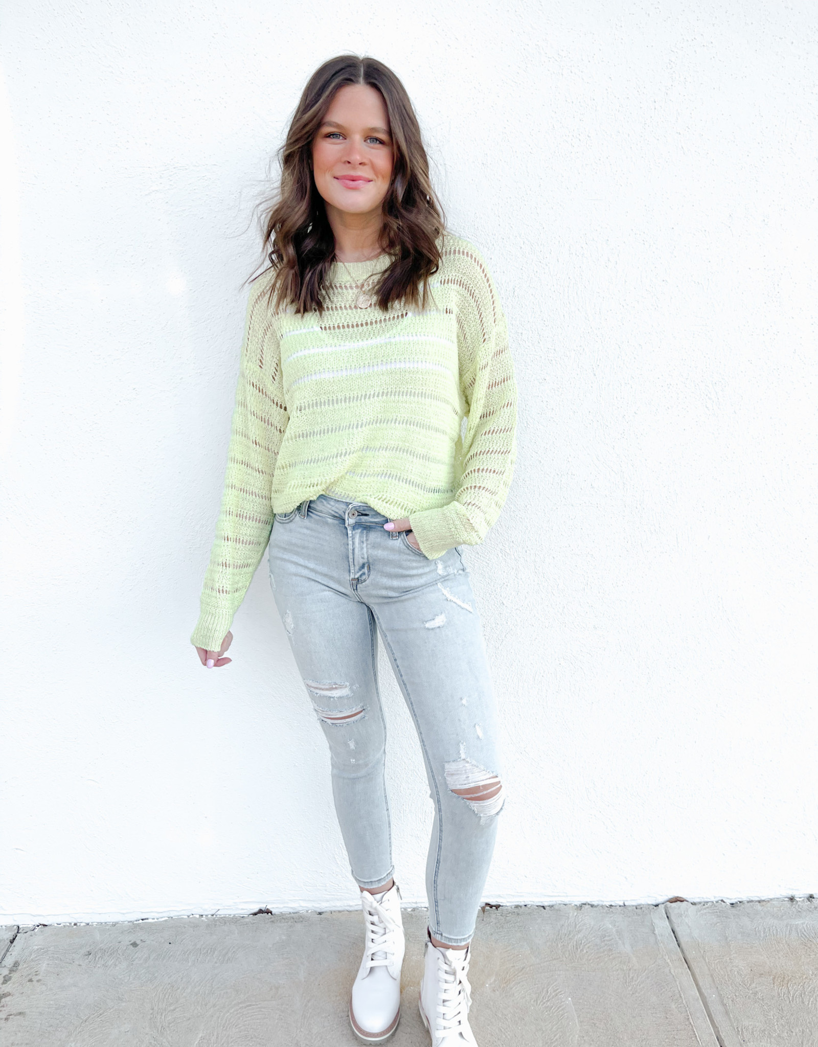 Adelia Crochet Sweater