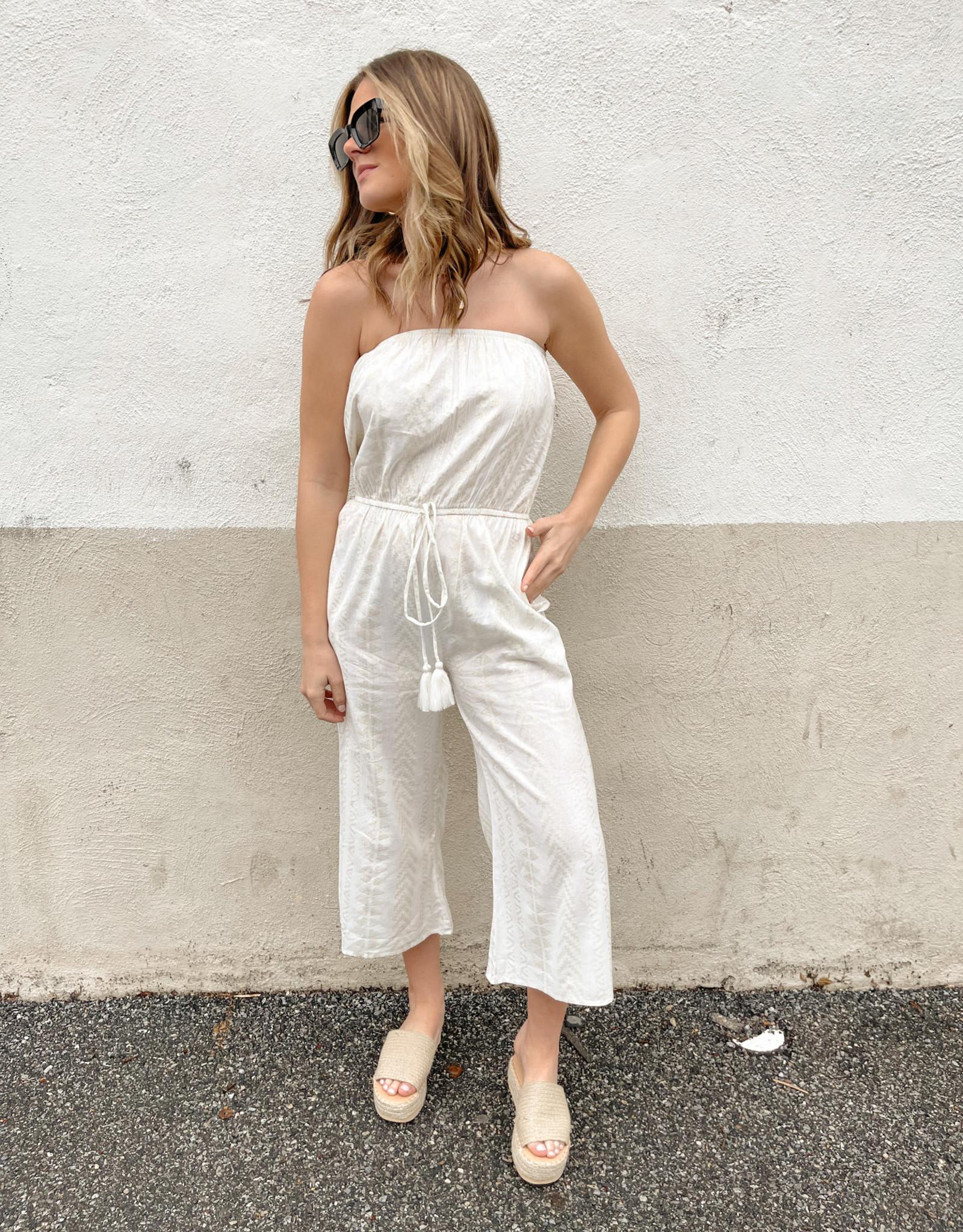 Alexandra Strapless Printed Jumpsuit