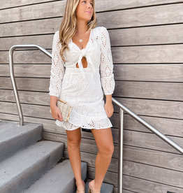 Janie Eyelet Mini Dress