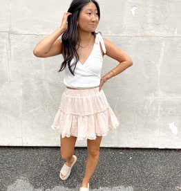 Tisha Tiered Flounce Mini Skirt