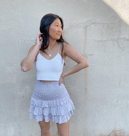 Leonie Ruched Mini Skirt