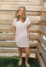 Tallulah V-Neck Cuff Sleeve Mini Dress