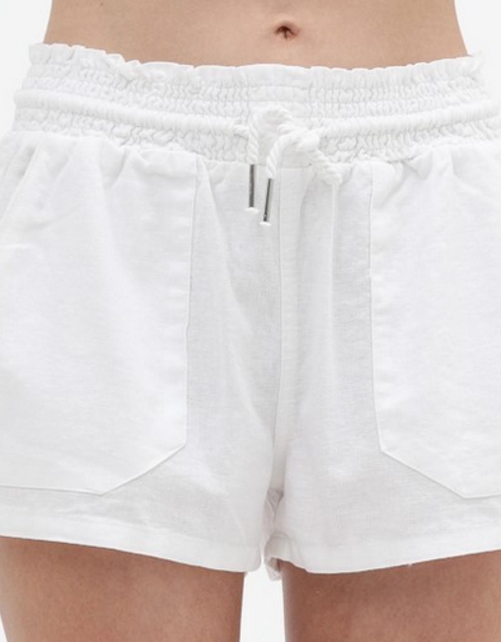 Amelia Drawstring Linen Shorts