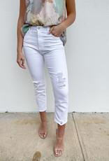 Jennifer High Rise Distressed Straight Leg Jean