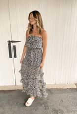 Jameson Leopard Strapless Maxi Dress
