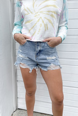Maisie Frayed Hem Denim Shorts