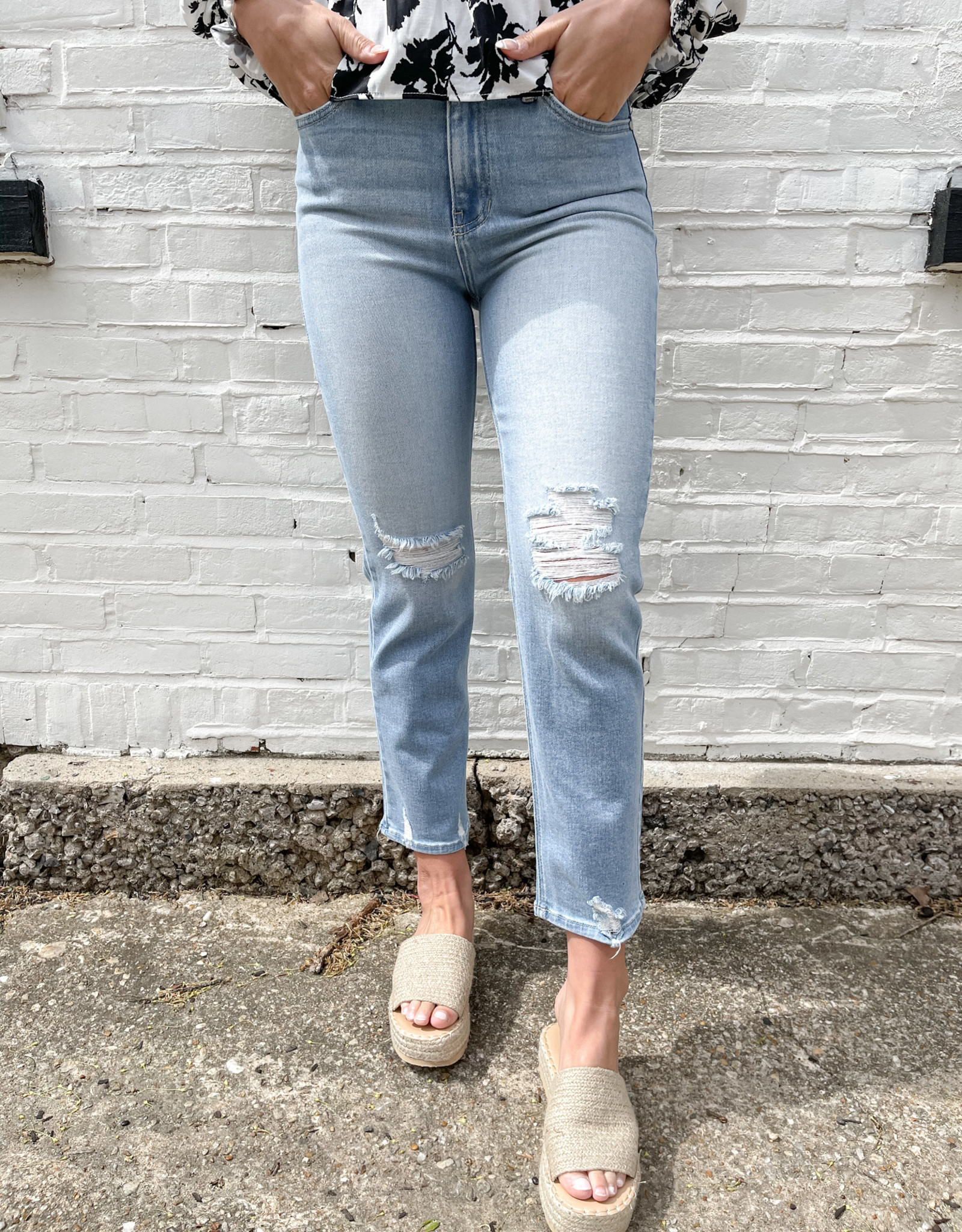 Tinsley High Rise Straight Leg Jean