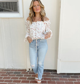 Annabelle Off the Shoulder Floral Blouse