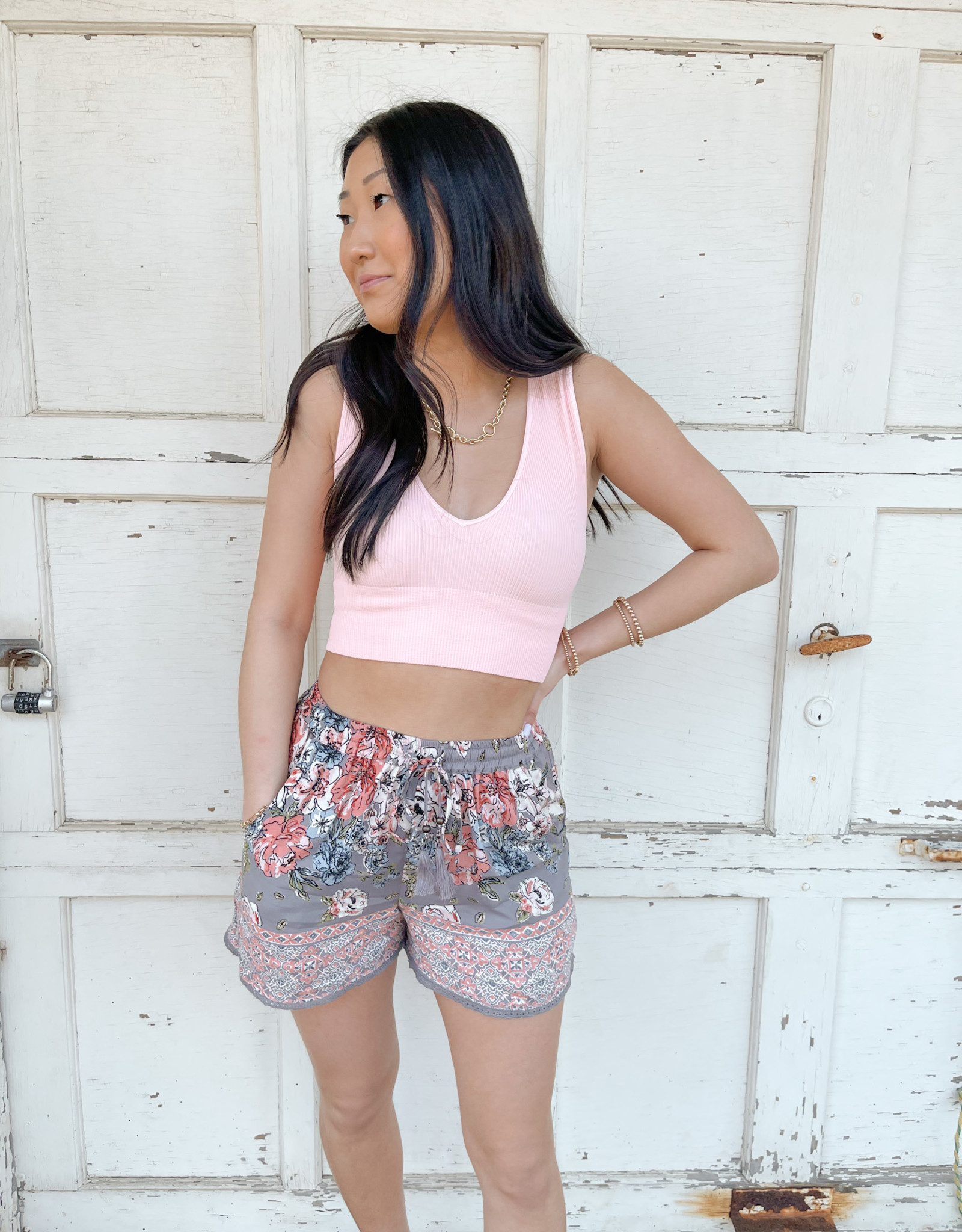 Aubree Floral Printed Shorts