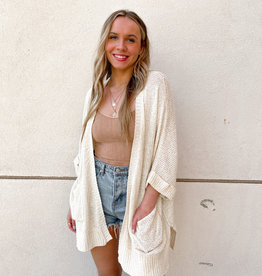 Trina Half Sleeve Open Front Cardigan