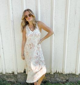 Z Supply Reverie Floral Midi Dress Suntan