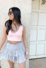 Maven Ruffle Mini Skirt