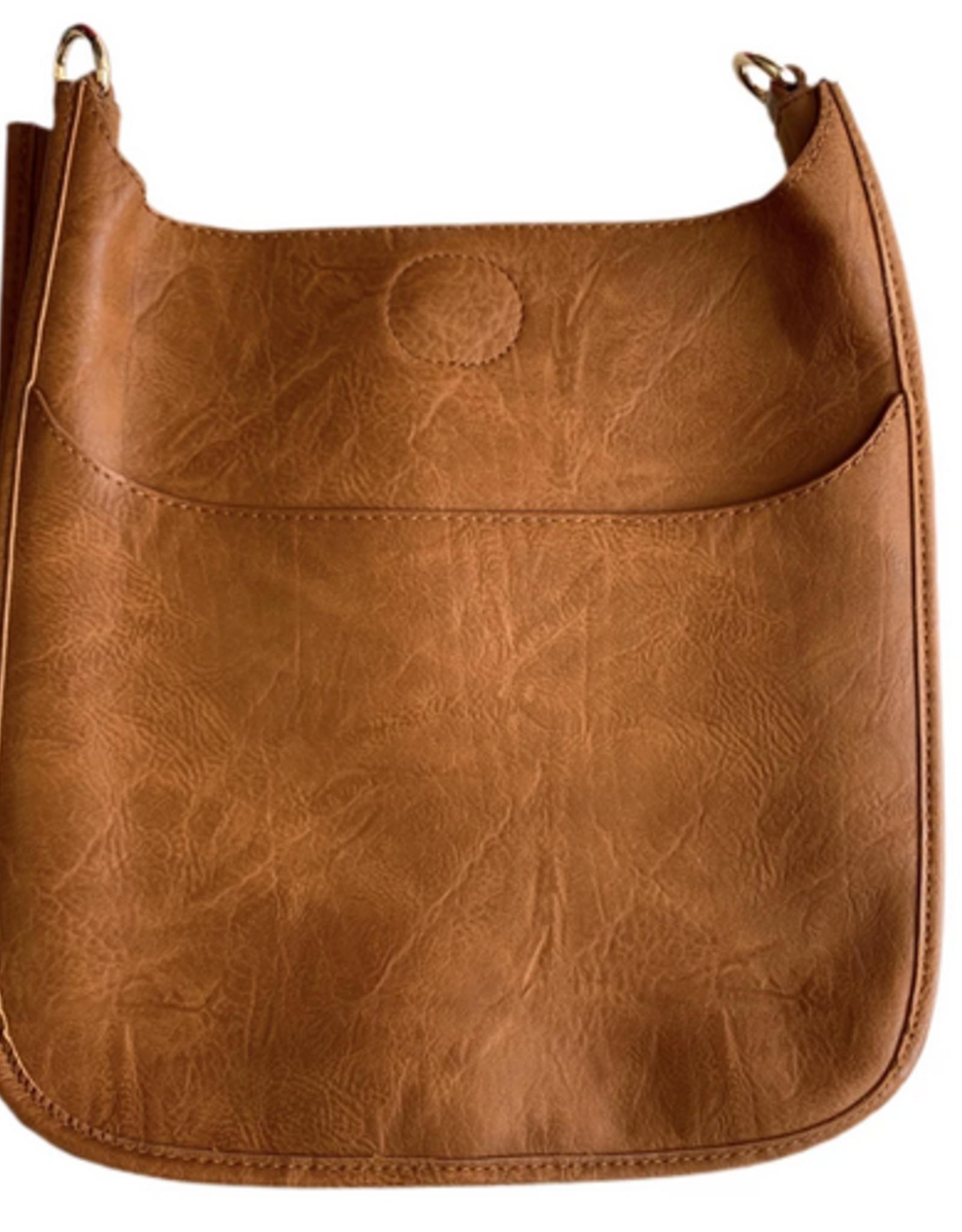 Large Vegan Messenger Bag w/gold hardware