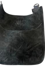Mini Vegan Messenger Bag w/Silver Hardware