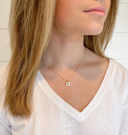 Old English Lower Case Initial Necklace