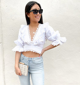 Janet Cropped Crochet Top