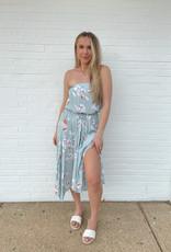 Melinda Strapless Maxi  Dress