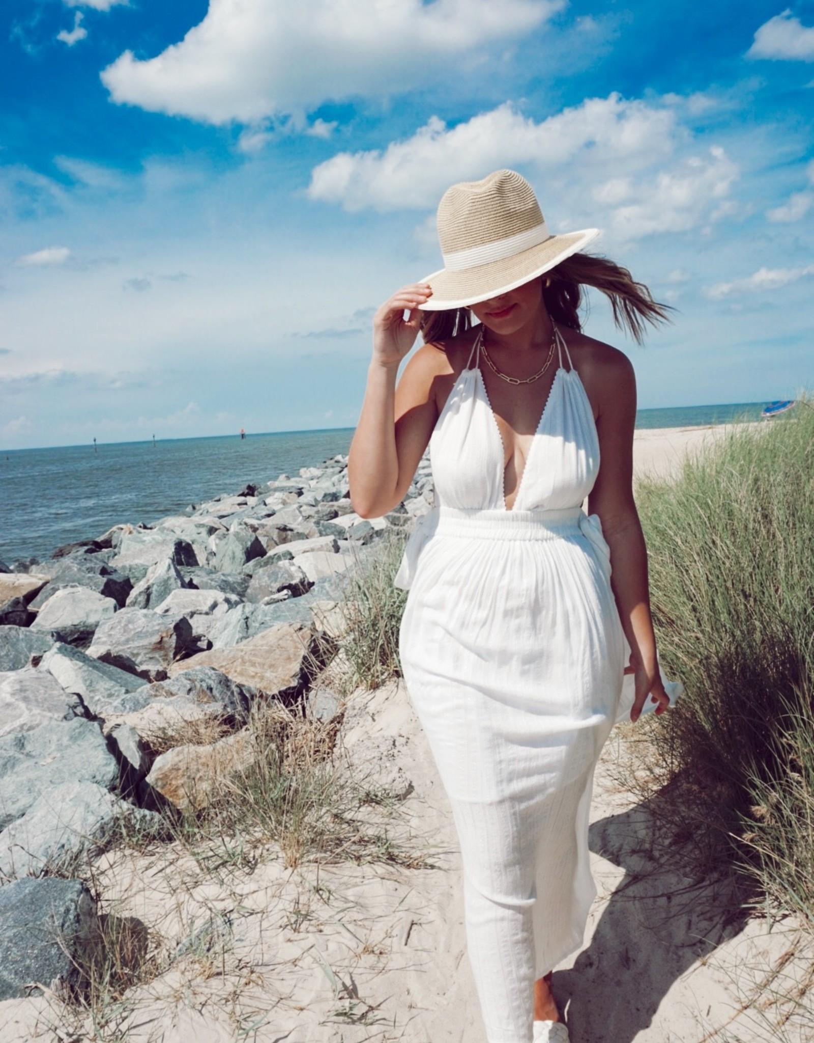 Martina Pearl Halter Maxi Dress