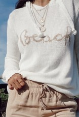 Beach Graphic Knit Hoodie