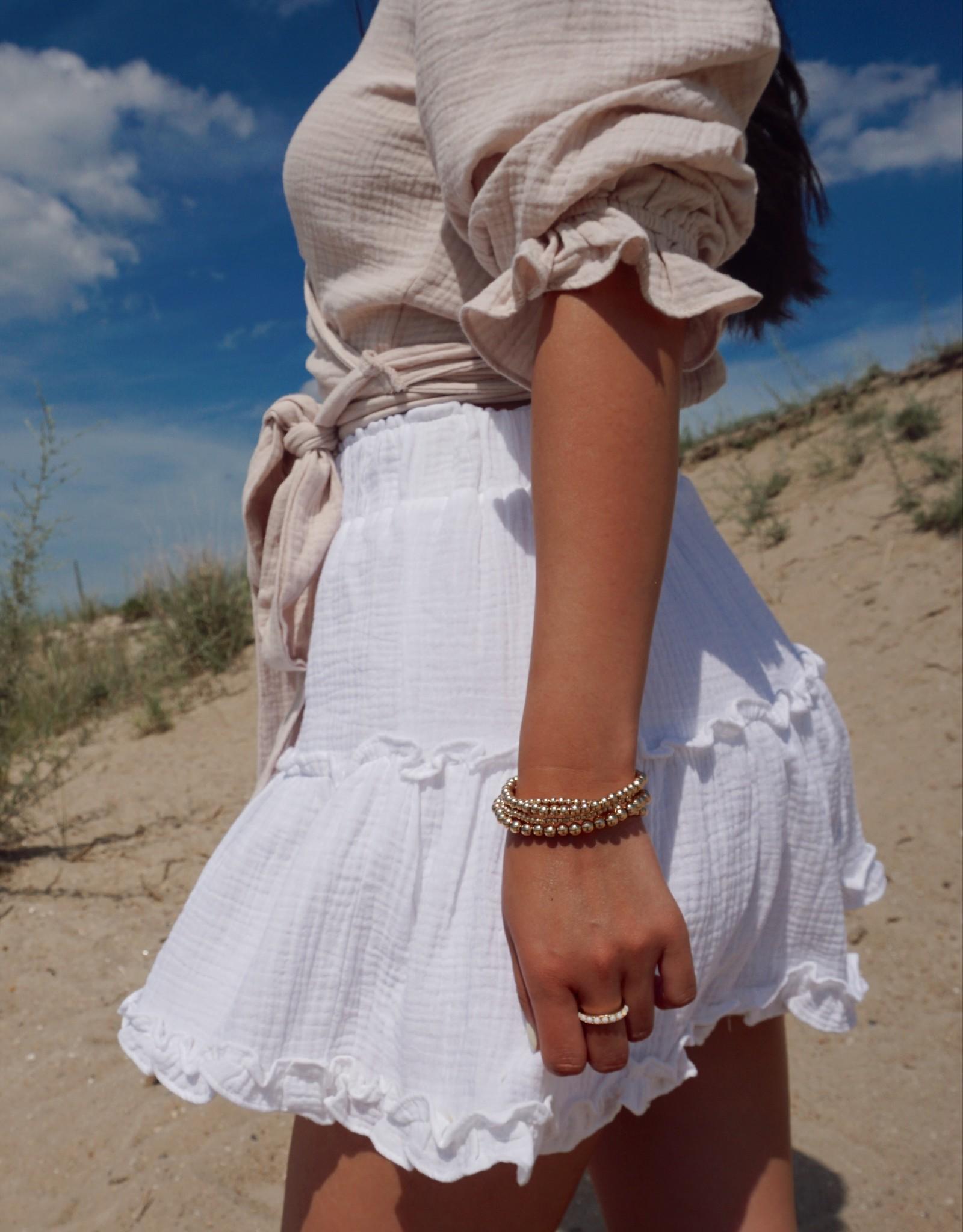 Venice Tiered Flounce Mini Skirt
