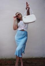Ange Satin Midi Skirt