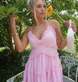 Tiana Gingham Ruffle Dress