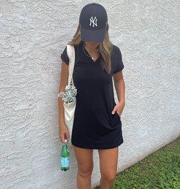 Talia V-Neck Cuff Sleeve Mini Dress