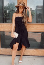 Elisa Strapless High Low Dress