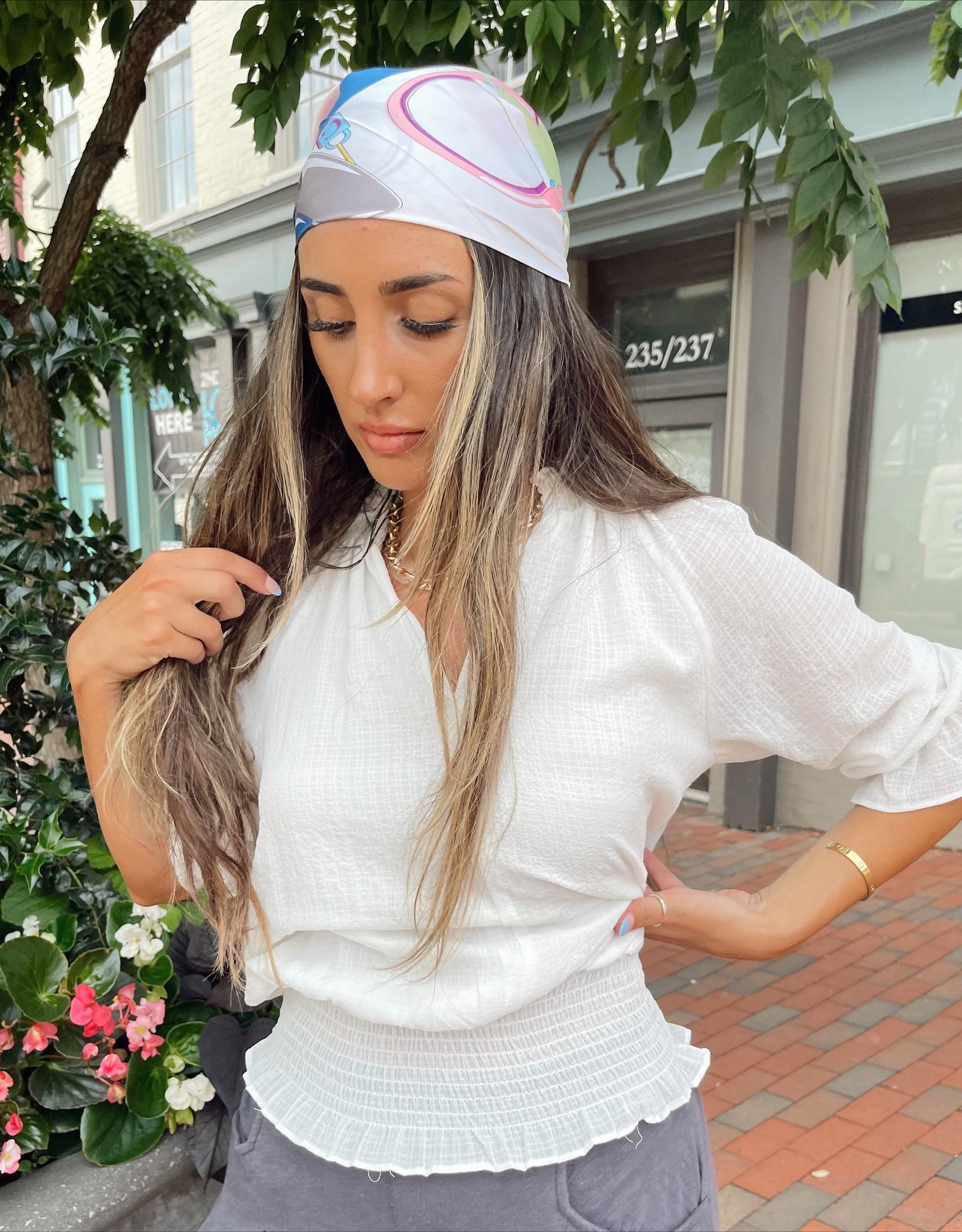 Adriana Smocked Ruffle Blouse
