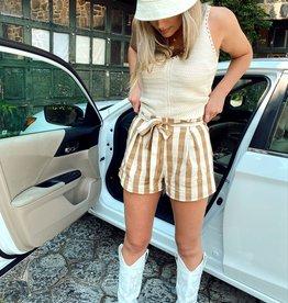 Antonella Stripe Shorts