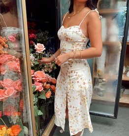 Magnolia Floral Midi Dress