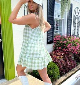 Mairead Check Babydoll Dress