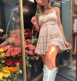 Trixie Ruffle Tier Mini Dress