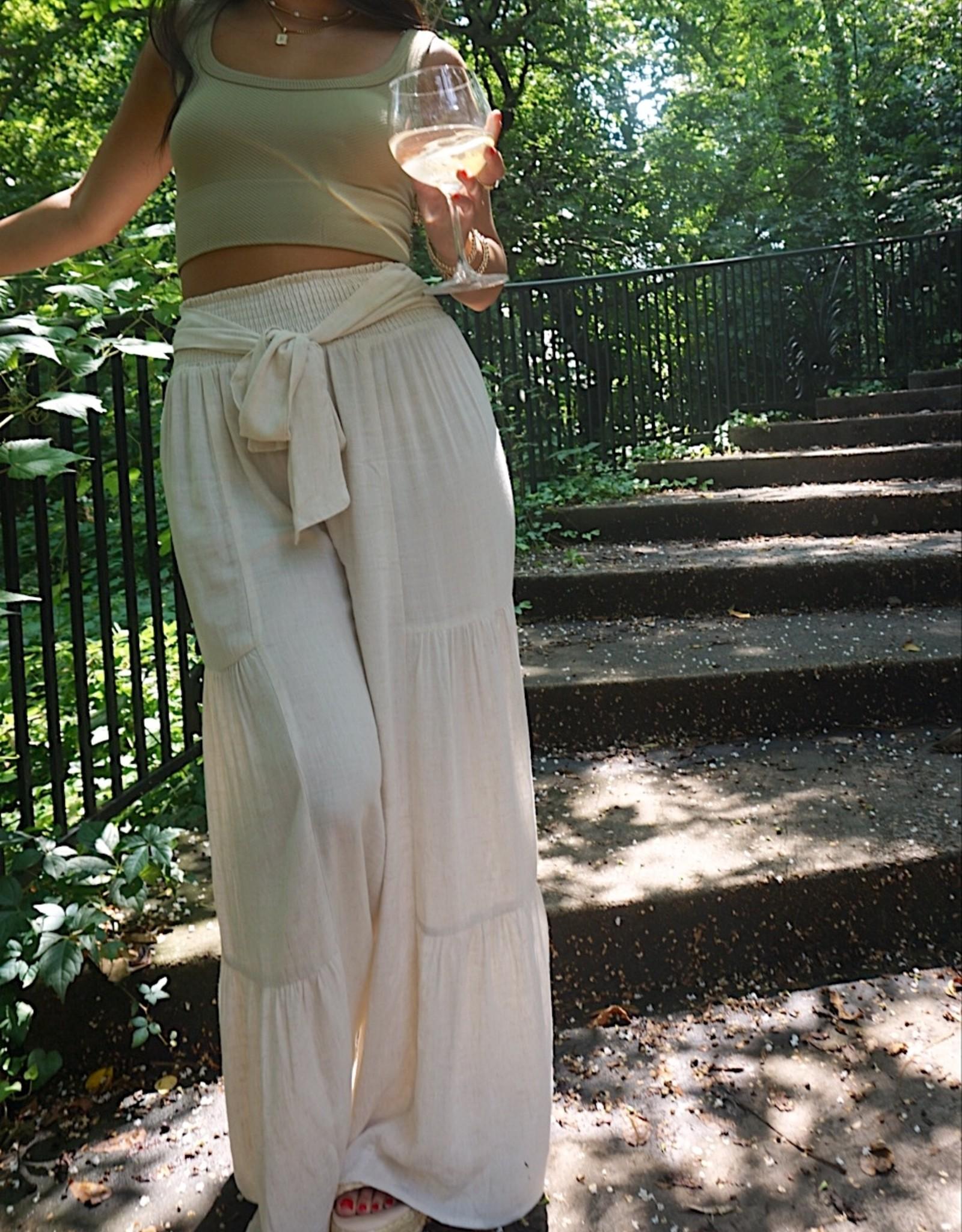 Pilar Tiered Wide Leg Pants