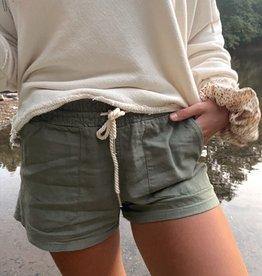 Carli Drawstring Linen Shorts