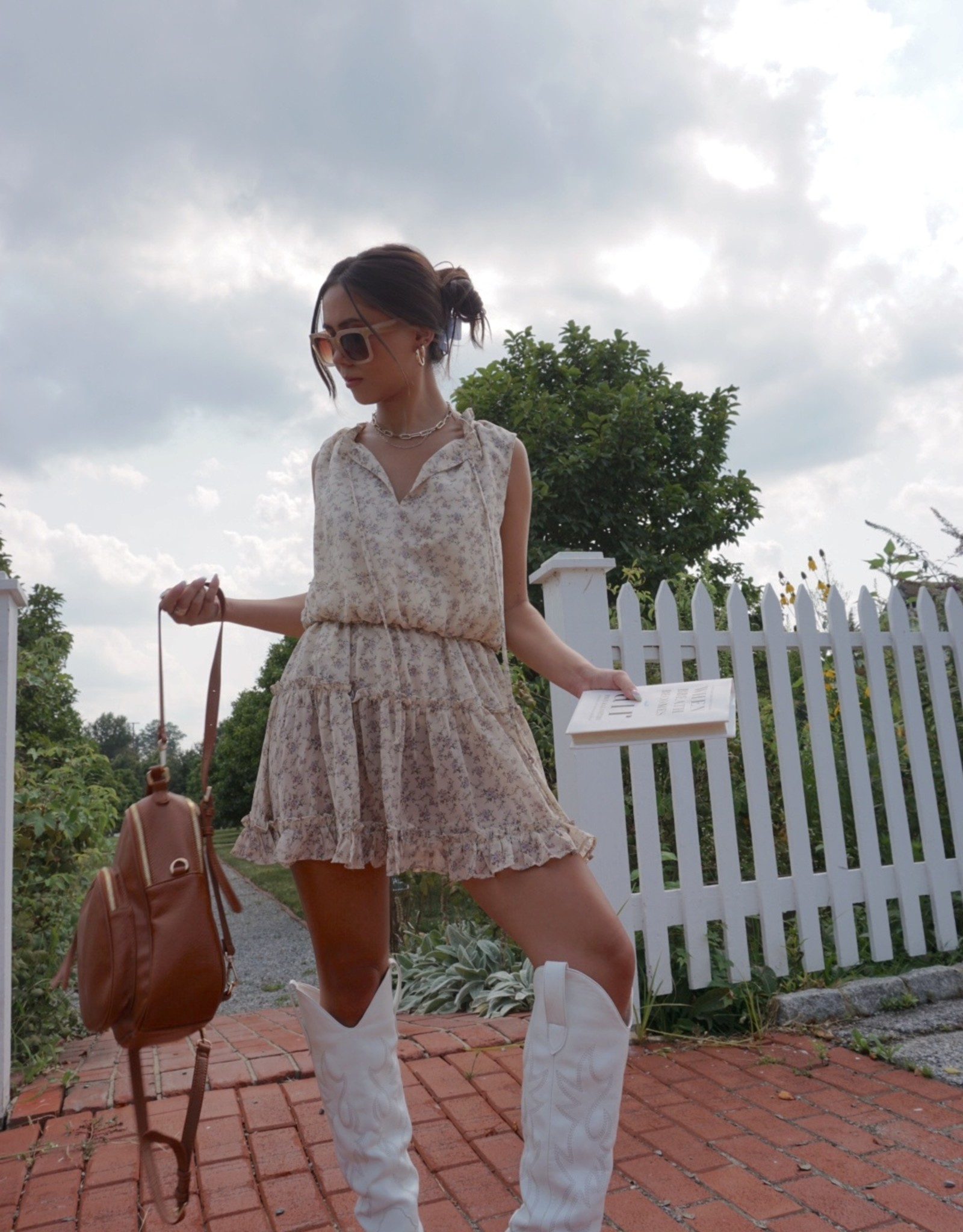Sienna Floral Print Chiffon Sleeveless Dress