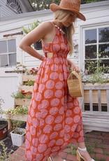 Aranea Printed Halter Maxi Dress