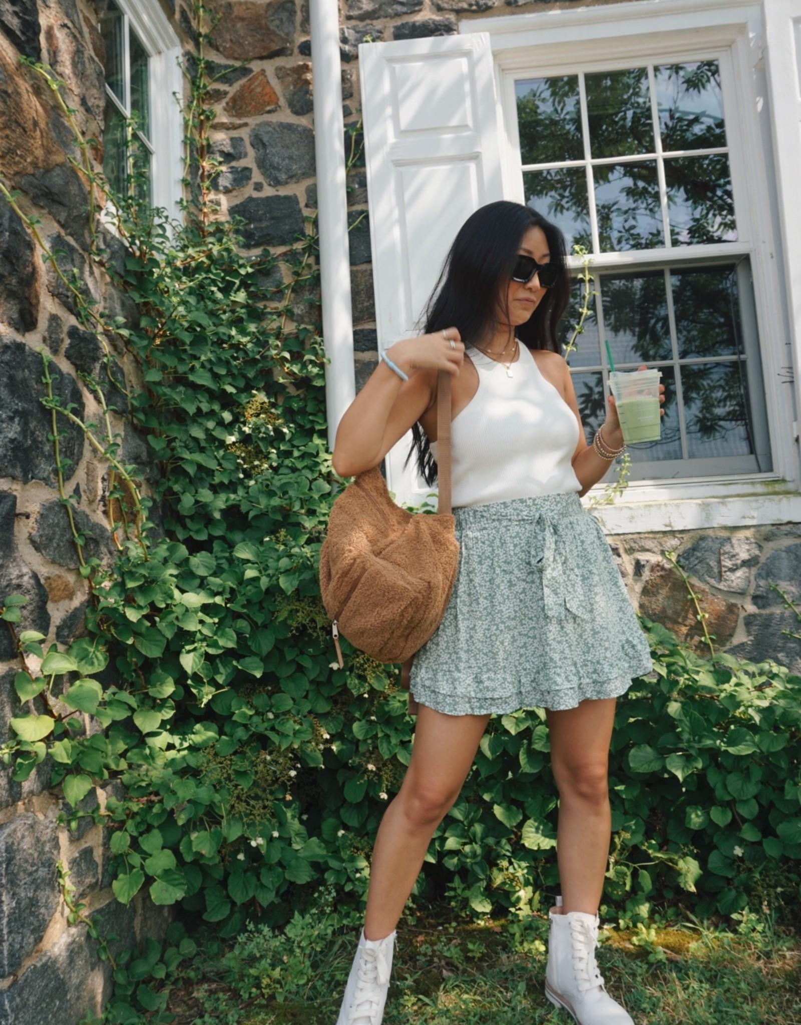 Mari Floral Ruffled Skirt