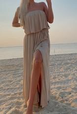 Carol Open Back Strapless Maxi Dress