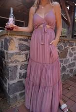 Angelina Ruffle Detail Maxi Dress