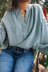 Amira Cotton Button Top