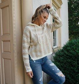 Kyla Striped Hooded Sweater