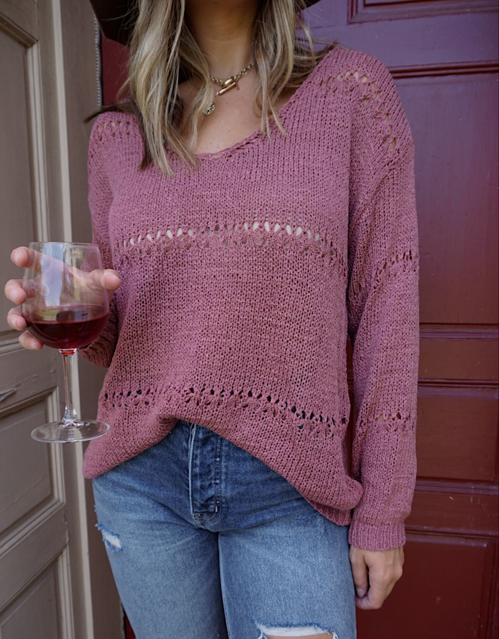 Milana Open Knit Sweater