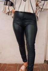 London Vegan Leather Skinny Pants
