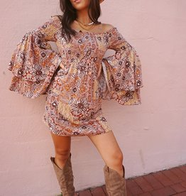 Amaris Floral Long Sleeve Mini Dress
