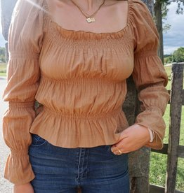 Val Ruffle Square Neck Top